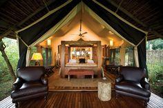 "my luxury safari tent in Kenya ... Bateleur Camp, Masai Mara ... located near where the final scene of ""Out of Africa"" was filmed"