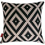"Amazon.com: Onker Cotton Linen Square Decorative Throw Pillow Case Cushion Cover 18"" x 18"" White and Black Series Geometry: Home & Kitchen"