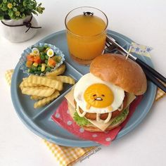This is from the gudetama Cafe in Singapore, it honestly looks delicious but it's too cute. Comida Disney, Lazy Egg, Food Porn, Eat This, Good Food, Yummy Food, Cute Desserts, Cafe Food, Aesthetic Food
