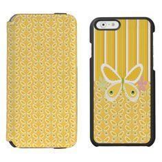 Girly Butterflies and Strips Incipio Watson™ iPhone 6 Wallet Case