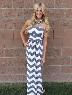 Chevron Dress, http://@tiffanie Goad I need one of these in pink with straps! be crafty! lol