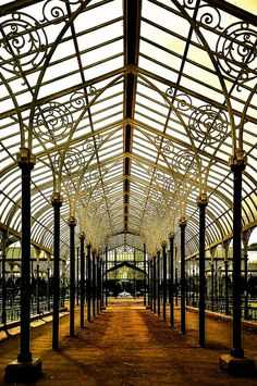 The glass house of the Lal Bagh Botanical Garden, Bengaluru, India