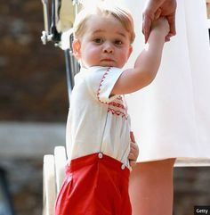 Curious Prince George was looking round at everything & everyone. Photo (C) Getty
