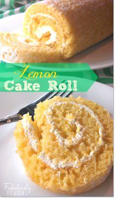 Lemon Cake Roll Recipe - Light Spring Dessert - easy to make!