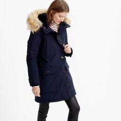 "Our warmest coat <i>ever</i>. Featuring a water-resistant fabric that we custom-developed, double the insulation (Thinsulate®—which is used in sleeping bags!—<i>and</i> down filling) and cozy details, like a detachable faux-fur-lined hood and fleece-lined pockets. <ul><li>Classic fit.</li><li>Body length: 35"".</li><li>Sleeve length: 33 3/4"".</li><li>Hits at midthigh.</li><li>Poly/cotton.</li><li>Hooded.</li><li>Zip closure.</li><li>Rib knit cuffs.</li><li>Patch and welt…"