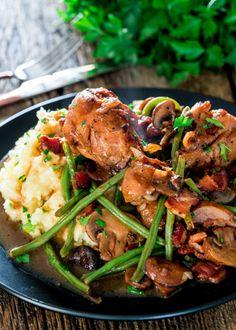 coq au vin with mashed potatoesReally nice recipes. Every  Mein Blog: Alles rund um die Themen Genuss & Geschmack  Kochen Backen Braten Vorspeisen Hauptgerichte und Desserts # Hashtag