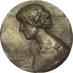 Elga Sinding Plaque by Theodore Spicer-Simson (1911)