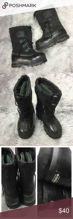 Sorel Youth Winter Boots Rubber Lined Glacier Sorel Youth Size 4 Black Winter Snow Boots Rubber Lined Insulated Kids Glacier 4  Pre-Owned condition, Signs of Normal Wear/Use, No Major Flaws, Lots of Life Left     SH-TA Sorel Shoes Rain & Snow Boots