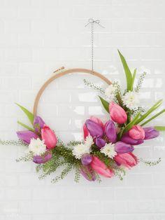 DIY Apprenez à faire une couronne de fleurs