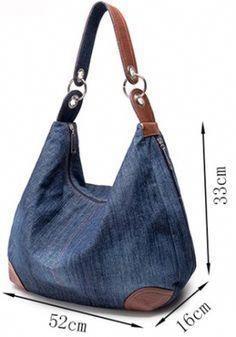 d002f2f9b bolsa-jeans-medidas #jeans Monedero Tejido, Bolsas Mochila, Mochilas De  Jeans