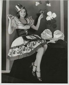 Lucille Ball,  St Patrick's Day, 1930s