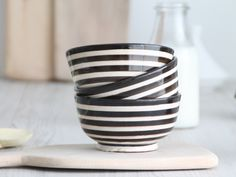 moroccan bowl black & white. dar amïna shop