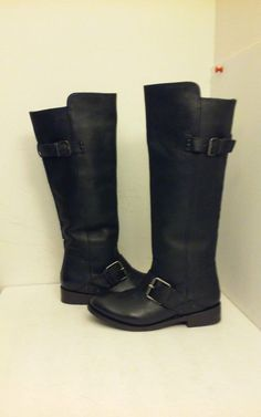 90dcf0fd683 Dolce Vita Lucianna Black Leather Knee-High Fashion Women s Boots 6.5 M   DolceVita