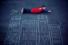 Super Hero by toutpetitpixel viablissbloomblog : What a great idea! #Photography #toutpetitpixel #blissbloomblog