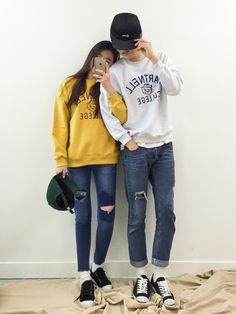 Korean Couple Fashion  Outfits ideas for couples ♥                                                                                   ...