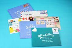 Letters I sent this week. #mail #snailmail #penpals