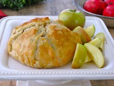 Jenny Steffens Hobick: Baked Brie & Caramelized Pecans in Puff Pastry with Apples   Holiday Appetizer   Holiday Entertaining