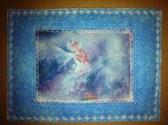 """Fairy Princess"" fabric postcard."