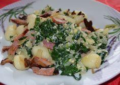 Gnocchi se špenátem z medvědího česneku Gnocchi, Risotto, Potato Salad, Potatoes, Ethnic Recipes, Food, Potato, Essen, Meals