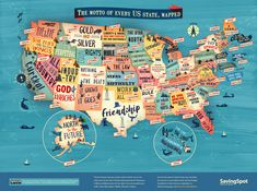 East Urban Home Graphic Printing United States of America Map Wayfair.deGraphic printing United Corporations of America map East Urban Home Size: 100 cm H x cm W(no title) United States of America Map Art Us State Map, State Mottos, State Of Florida, Us Map, United States Map, U.s. States, In God We Trust, Map Art, Travel