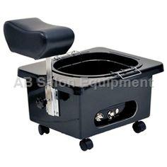 Pibbs DG105B Pedi-N-Go Portable Pedicure Spa w/ FM3848 Tub - Black. Perfect for a small salon.