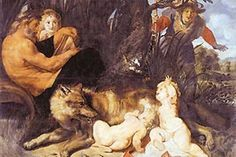 """Romolo e Remo"" a. Romulous and Remus by Peter Paul Rubens (c. I've always loved the story of Romulus and Remus, this painting, while a bit off the mark historically, is a beautiful idea of the story. Peter Paul Rubens, Remo, Caravaggio, Romulus Et Remus, Rubens Paintings, Oil Paintings, Painting Art, Arte Latina, Statue En Bronze"