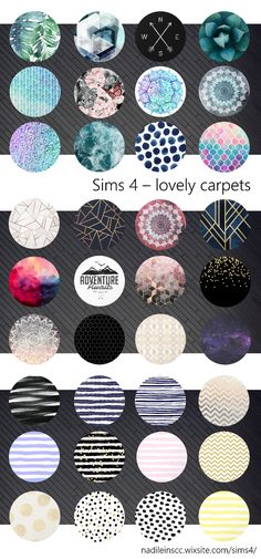 lovely carpets for your Sims! #sims4 #customcontent #cc #carpets #decoration #nadileinscc