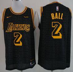 4a41faec7c0 17-18 New Lakers 2 Bower Serpentine Black Nike Player size S M L XL XXL XXXL