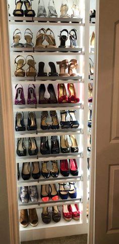 Closet Storage Drawers, Shoe Storage Cabinet, Storage Cabinets, Hanging Closet Organizer, Shoe Organizer, Closet Organization, California Closets, Closet Shelves, Closet System