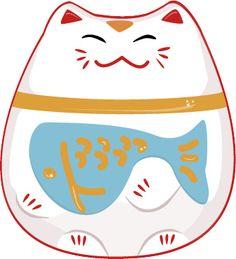 Lucky Cat charm illustration 3 by meekins.art, via Flickr