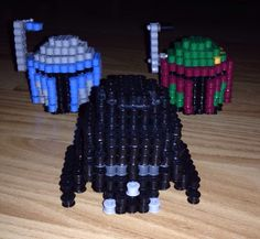 Star Wars Inspired 3D Puzzle Perler Bead Busts by SlabbinckDesigns on Etsy https://www.etsy.com/listing/214173535/star-wars-inspired-3d-puzzle-perler-bead
