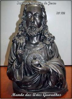 Busto Sagrado coração de Jesus com 30 cm prontinho.