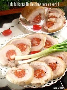 Rulada fiarta din fleica de porc cu sorici este un mezel dar si un aperitiv deosebit pentru orice ocazie. Shrimp, Sausage, Bacon, Meat, Pork, Sausages, Pork Belly, Chinese Sausage
