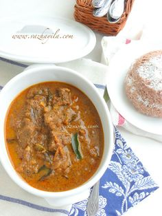 Puttu + Varutharacha Beef Curry - A combination made in heaven!!