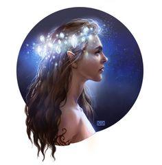 Art done by hauntedduckprincess Night Triumphant- and the Stars Eternal. - Sarah J. Maas