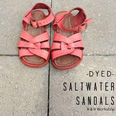 DIY Dyed Salt Water Sandals
