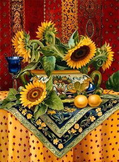 Vonnie Whitworth | WATERCOLOR | Tuscan Still Life With Lemons