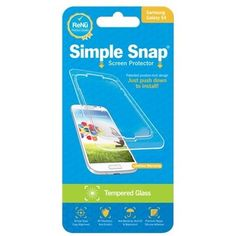 Simple Snap - Screen Protector for Samsung Galaxy S4 - Transparent