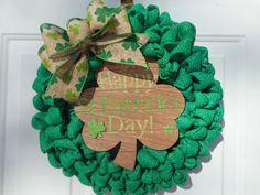 St Patricks day wreath St Patricks wreath St by ChloesCraftCloset