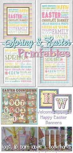 Cute Easter & Spring Printables!