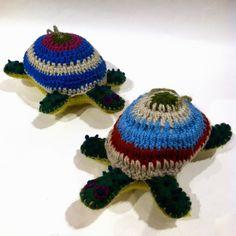 Turtle Felt & Crocheted Ornaments - Kork: Fiber Art Group via Silk Road Bazaar | Touchstone Gallery