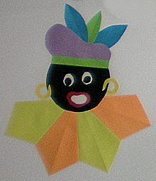 Zwarte Piet vouwen is een knutselidee uit de categorie Sinterklaas