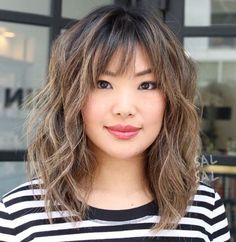 Medium Balayage Hairstyle - Medium Hairstyles With Balayage - Shag Hairstyle .,Medium Balayage Hairstyle - Medium Hairstyles with Balayage - Shag Hairstyle . - Medium balayage hairstyle - Medium hairstyles with balayage shag. Curly Hair Styles, Medium Hair Styles, Updo Styles, Modern Shag Haircut, Bronde Balayage, Balayage Hairstyle, Bangs Hairstyle, Hairstyle Ideas, Hair Ideas
