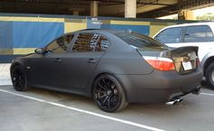 """Mention """"Hot Rod Black"""" and receive off your repair! Give us a call today! Matte Black Bmw, Best Car Rental, Bmw M5, Touring, Luxury, Vehicles, Cars, Norway, Sick"""