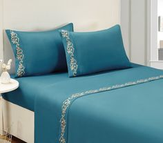 Luxurious Comfortable Soft 4pc Bed Sheet Set KING, Teal