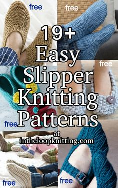 Easy Slipper Knitting Patterns