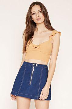 bd56ffdb0ff Flounce Cropped Cami Half Shirts