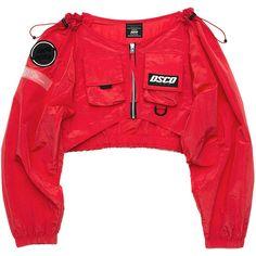 DSCO OFF SHOULDER JUMPER red ❤ liked on Polyvore featuring tops, off-the-shoulder tops, off-shoulder tops, red off shoulder top, nylon top and red top