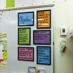 daily objective dry erase boards.....not just for teachers!