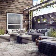 "564 likerklikk, 6 kommentarer – Modena Fliser (@modenafliser) på Instagram: ""Asak MODUL er et murkonsept for bygging av hagemur, levegg, utekjøkking, benker, bord, blomsterbed…"" Outdoor Seating Areas, Outdoor Rooms, Outdoor Gardens, Outdoor Living, Outdoor Furniture Sets, Outdoor Decor, Patio Design, Garden Design, Backyard Planters"